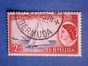 Bermuda. QE2 1953 2d Ultram & Brown-Red. SG138. Wmk Mult Script CA. P13½. Used.