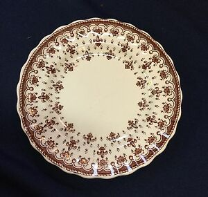 "Spode Fleur de Lis Brown 6.5"" plate - sold individually"