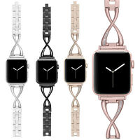40/44mm Stainless Steel Bracelet iWatch Band Women Strap for Apple Watch 6 5 4 3