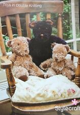 "Stylecraft Teddy Bear animal toy  Knitting Pattern  12/20"" In Height"