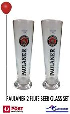 Paulaner Beer Munchin 2 Beer Glass Pilsner 12 carat gold 300ml BNWOB MANCAVE