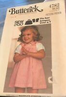 Vintage Uncut  Butterick 4782 Toddler Jumper & T Shirt Pattern. Size 4 Sew & Go