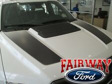 17 - 18 F-150 RAPTOR OEM Genuine Ford Ebony Black Hood Stripes Decals - Set of 2