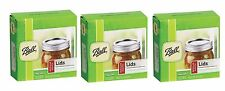 3 Box/12 BALL Regular Mouth Dome Lids For Mason Jars Canning Preserving 31000