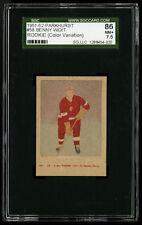1951-52 PARKHURST HOCKEY PROOF/VARIATION~#58~BENNY WOIT~ROOKIE~SGC 86 NM+  7.5