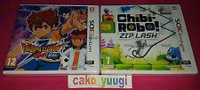 LOT 2 JEUX NINTENDO 3DS INAZUMA ELEVEN GO OMBRE + CHIBI ROBO! ZIP LASH