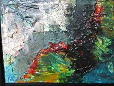 "David Padworny Original Painting Oil Mixed Media 12"" x 16"""
