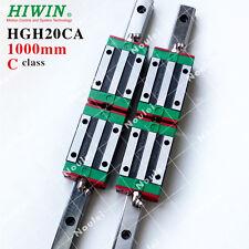HIWIN Linear Rail, HGR20 1000mm CNC Kit set with 4pcs HGH20CA Guide Block