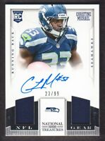 2013 National Treasures Rookie NFL Gear Dual Jersey Auto 3 Christine Michael /99
