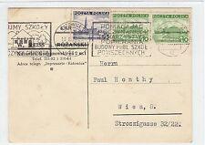 Polonia: 1937 comercial postal a Austria (C28538)