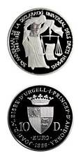 Andorra Scales Of Justice Lawyer's Proof Silver Crown 10 Diners 1998