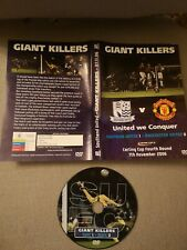 Southend United DVD Giant Killers 1-0 Manchester Utd Carling Cup 4th Round 2006