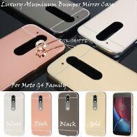 Aluminum Metal Bumper Mirror Back Cover Skin Case for Motorola Moto G3 G4/Plus