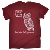 Irritable Owl Syndrome T-SHIRT - Tee Sarcasm Rude Adult Funny birthday gift