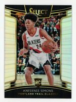 2018-19 Panini Select ANFERNEE SIMONS Rookie Card RC SILVER PRIZM CONCOURSE #39