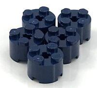 Lego 5 New Dark Blue Bricks Round 2 x 2 with Axle Hole Pieces