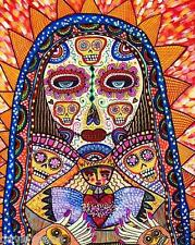 Sandra Silberzweig - 8 X 10 Canvas Print-Day of the Dead Skull Cloak