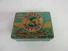 VINTAGE ADVERTISING EMPTY PLAYERS NAVY CUT   TOBACCO TIN   368