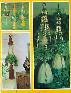 Single & Double Plant Hanger Patterns Vtg Macrame Tricks and Treats Book TT100