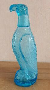 Carafe Bottle Bottle Eagle Glass Color Blue Vintage