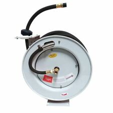 Retractable Airwater Hose Reel Black With 38 X 50 Feet Rubber Hose Hsr80 64bb