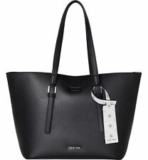 Calvin Klein CK Zone Medium Shopper Tasche Black / CK White Schwarz