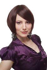 Kess & séduisant Perruque de cheveux courts Perruque Pour Femme Bob Mixte marron