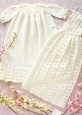 SHELL DRESS & CAPE / 3ply -  birth to 4 months  - COPY baby knitting pattern