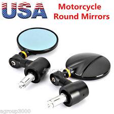 "Motorcycle 7/8"" Handle Bar End Side Mirrors For Triumph Ducati Honda Yamaha KTM"