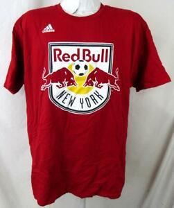 """New York Red Bulls Men 2X-Large Short Sleeve """"RED BULLS LOGO"""" T-shirt NRB 13"""