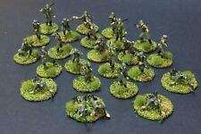 1/72 Scale 24 GERMAN INFANTRY AIRFIX  painted  based Set F