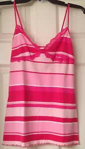 NWOT, Victoria's Secret PINK camisole, multi color pink/white stripes, size S