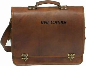 Vintage Rugged very stylish Leather Messenger Cross body  Briefcase Satchel Bag