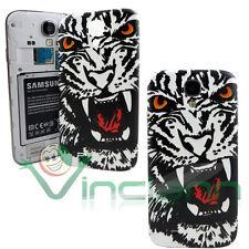 Cover copri batteria Tigre Bianca per Samsung Galaxy S4 i9505 copribatteria