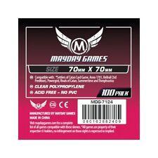 100 Buste Protettive Giochi da Tavolo / Boardgame Sleeves 70x70 mm MayDay