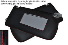 RED STITCH FITS HONDA ACCORD MK7 2003-2007 2X SUN VISORS LEATHER COVERS ONLY