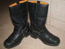 ~Kids Frye Brand Black Leather Harness Boots sz.12 1/2~Super Cute~