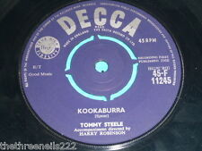 "VINYL 7"" SINGLE - TOMMY STEELE - KOOKABURRA - 45-F 11245"