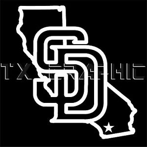 SAN DIEGO PADRES STICKER CALIFORNIA VINYL  DECAL VEHICLE GRAPHIC CUSTOM  BOAT
