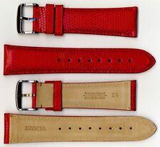 Invicta 24mm Men's Watch Strap - Genuine Lizard - Red Model IS147