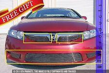 GTG 2009 - 2011 Honda Civic 4dr 5PC Polished Overlay Combo Billet Grille Kit
