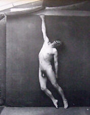 """Nude male mounted vintage photo print, gymnast, 1880, 10 x 8"""", gay interest NP12"""