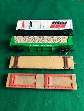 HO Scale Tyco  4 Cars All Dusty good Condition (HO341220)