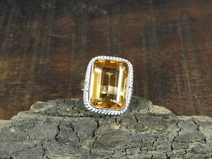 Natural Morganite Quartz Faceted 925 Solid Sterling Silver Ring Size US 7.0 m773