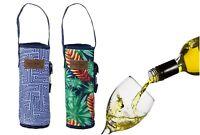Wine Cooler Bag Bottle Drink Carrier Tote Bag Travel Picnic w/ Strap & Opener AU