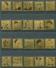 Kyrgyzstan 2005 - Scott 249-68 268 Gold Foil Plated World War 2 Leaders 422-41
