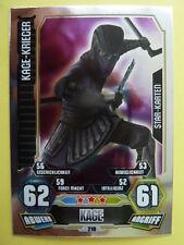 Force Attax Clone Wars 3 (2012, rot), Kage-Krieger (210), Star-Karten