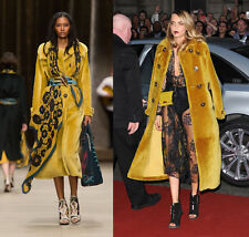 BURBERRY PRORSUM Golden Yellow Shearling Fur Coat ASO Cara Delevingne IT 38 US4