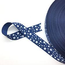 "New 5 Yards 3/4"" (20mm) Printed Grosgrain Ribbon Hair Bow DIY Sewing AD50"