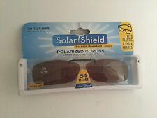 Solar Shield 54 Rec b  Frameless Polarized Clip-on Amber Lenses  Sunglasses